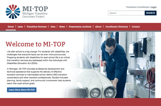 MI-TOP Website Home Page