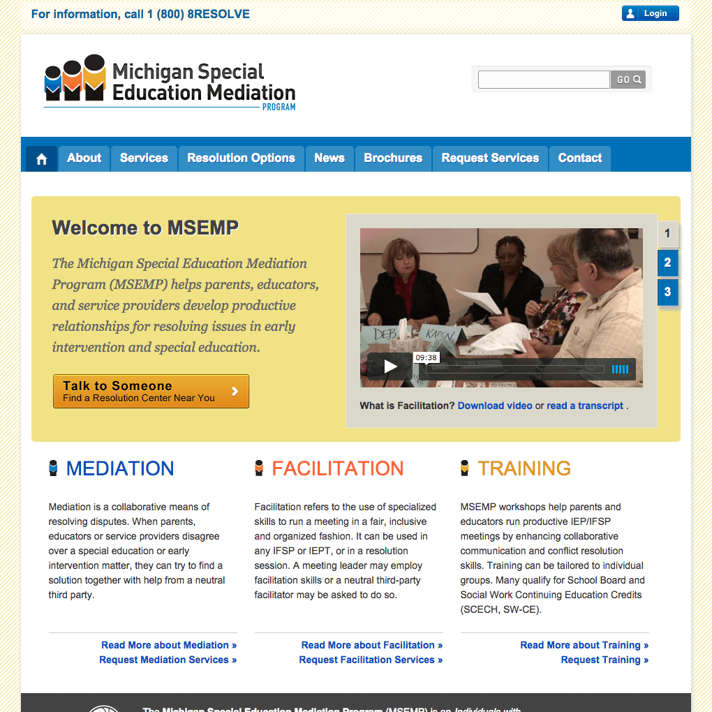 MSEMP Website Home Page