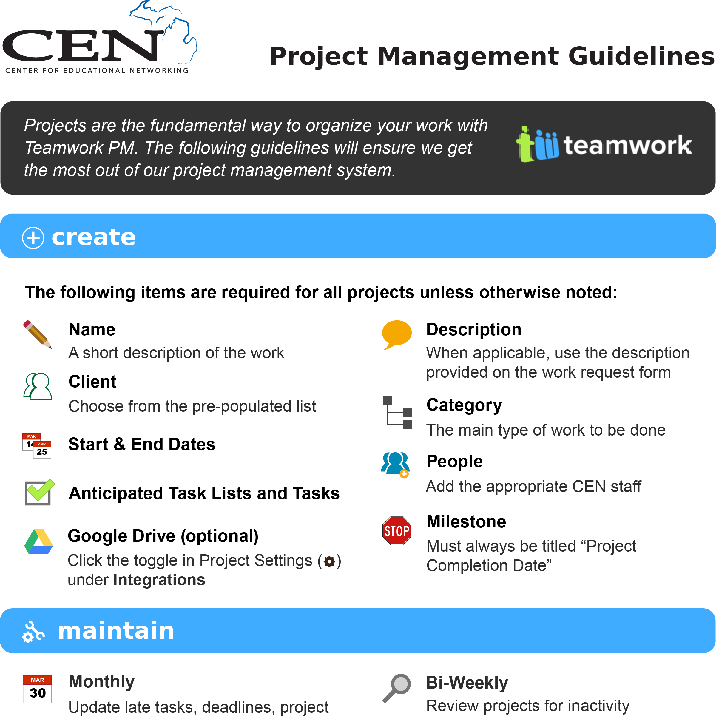 Project Management Guidelines Infographic